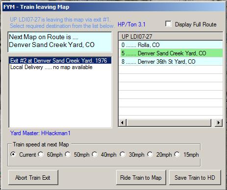 Train leaving map window