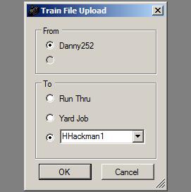 Train upload window
